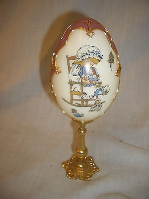 Handcrafted Decorated Real Egg On Pedestal 16Cm We