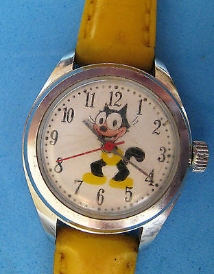 Vintage Felix The Cat Character Wrist Watch