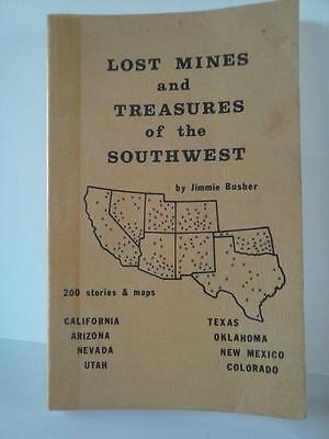 Lost Mines and Treasures of the Southwest 1975 PB Gold Book Jimmie Busher SIGNED