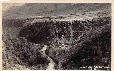 COSTA RICA, REVENTAZON RIVER VALLEY OVERVIEW, REAL PHOTO PC c. 1930-1940's