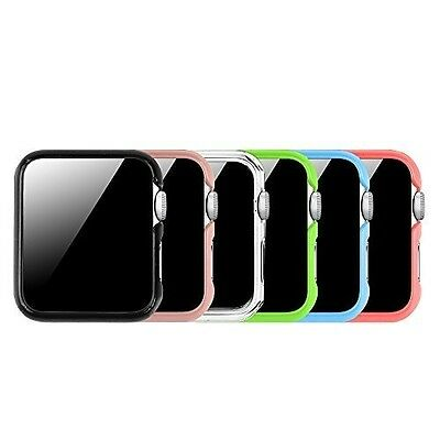 Apple Watch Cases Lightweight Hard Protective Bumper Cover Series 1 & 2 - 6 Pack