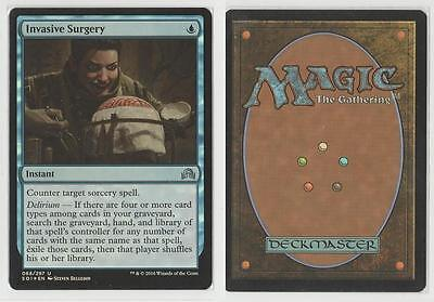 MTG GAME 2x INVASIVE SURGERY FOIL - SHADOWS OVER INNISTRAD ENGLISH - MINT