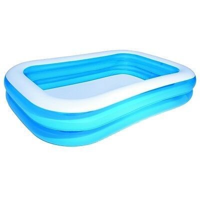 New Bestway Outdoor Inflatable Swimming Pool Blue/White 262 x 175 x 51 cm 54006