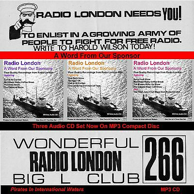 Pirate Radio - Radio London 'A Word From Our Sponsors Vols 1,2 & 3 On ONE MP3 CD