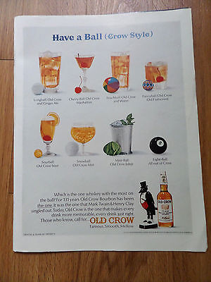 1966 Old Crow Whiskey Ad Have a Ball Crow Style