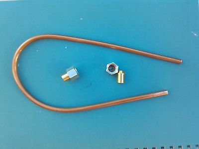 Stationary Engine Copper Petrol Pipe Nuts & Solder Ends Lister D Wolseley