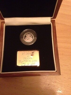 Worlds first St George & The Dragon Platinum coin 73 of 499 3.1 grams 2009