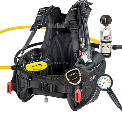 DIVING EQUIPMENT PACKAGE MARES BCD PRIME SIZE LARGE MR12s INSTINCT REGULATOR