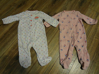~Lot of Carter's Sleepers White/Pink 6M Girl~