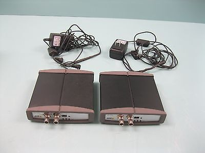 Lot (2) Axis Communications 241S Part # 0186-001-04 Video Server H2 (2107)