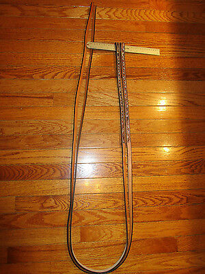 NEW Light Oil Leather Studded tooled Western Split Reins 7'x 5/8