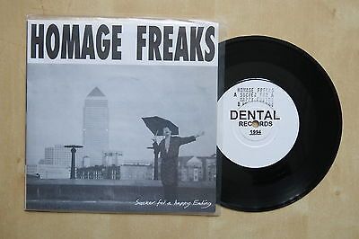 "HOMAGE FREAKS Sucker For A Happy Ending UK 7"" in pictre sleeve Dental Records"