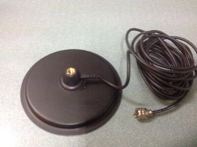 """7"""" Turbo Magnetic Mag Mount for CB & HAM Antenna Aerial 3/8 Thread +rubber base"""