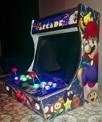 "19"" Arcade Bartop  Made in Italy  2 PLAYERS"