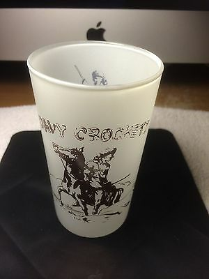 Original Antique Vintage Davy Crockett Glass Schnell's Dairy Kankakee Illinois