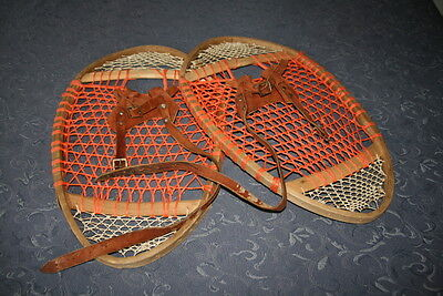 vintage bent wood bearpaw snowshoes