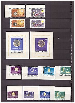s15055) SPACE 1964 MNH** Albania 12v + 2 S/S (4v + 1 S/S Imperforated)