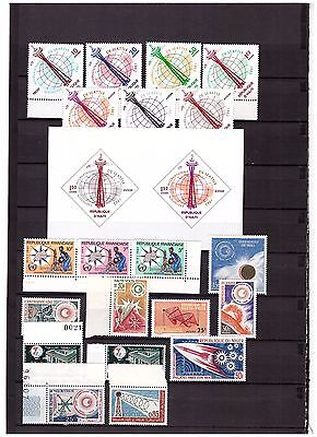 s15065) SPACE 1962/63 MNH** Haiti + French Area 20v + S/S
