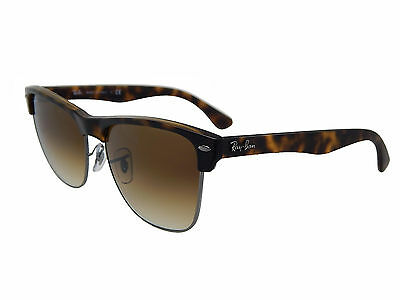 Ray Ban Clubmaster Oversized RB4175 878/51 Tortoise/Brown Gradt 57mm Sunglasses