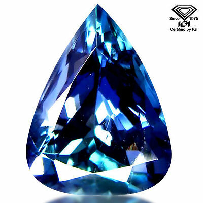 3.57 Ct Pear Shaped Tanzanite, Certified, Vs2-Si1, Earth Mined, Heated
