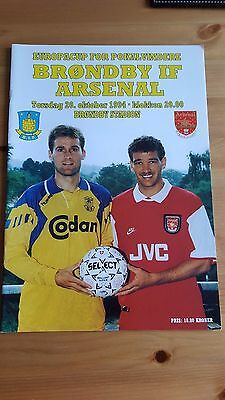 Brondby IF V Arsenal 20.10. 1994 - European Cup Winners Cup