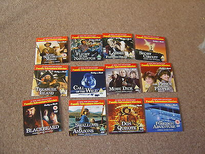 Family Adventure Movies Short Circuit Moby Dick Etc - Full Set Of 12 Promo Dvds