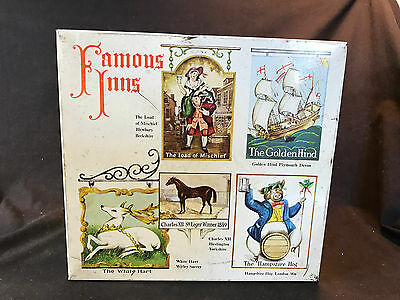 Old Vtg Famous Inns English Biscuit Cookie Tin Great Britain Lord Of Mischief