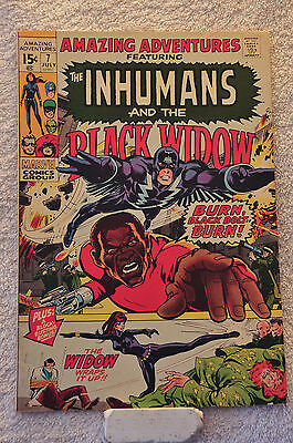 Amazing Adventures #7 (1971) Inhumans and Black Widow, Neals Adams, VF range.