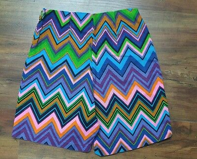 Retro Vintage 1960s Women's Rainbow Shorts, small