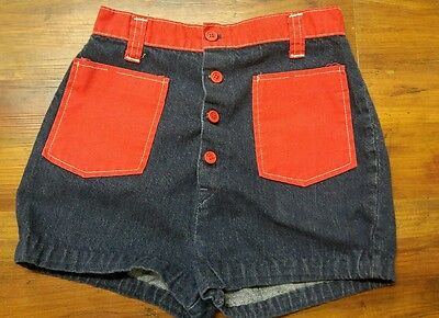 Retro Vintage 1960s Women's Demin Shorts, small