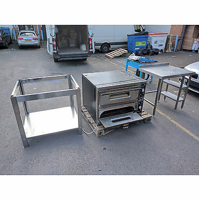 PrismaFood Electric Pizza Oven Commercial Double Deck 400 Volt for Restaurant UK