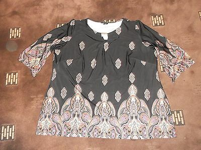 ladies lovely patterned Marisota top, size 24    lovely condition