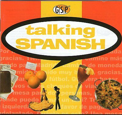 LEARN SPANISH WITH TALKING SPANISH Authentic CD Clearance Bargain  Win 95 98 XP