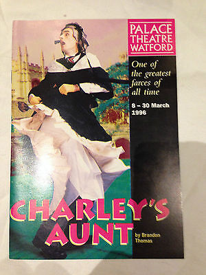 Charley's Aunt Programe, Palace Theatre Watford 1996 99p Bargain