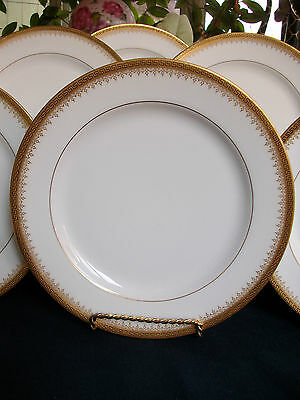 BAWO & DOTTER/ELITE WORKS- GREEK KEY-FILIGREE (c1896+) LUNCHEON PLATE(s)- GILT!!