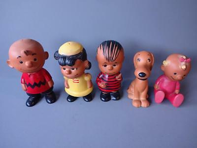 1958 Hungerford Peanuts Gang Pal Figures Lucy Charlie Brown Linus Snoopy Sally