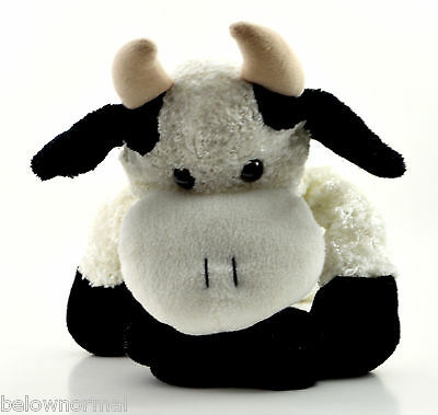 White Bull Plush Clean Soft Toy Network Stuffed Animal Moo Cow 2004  0212 Easter