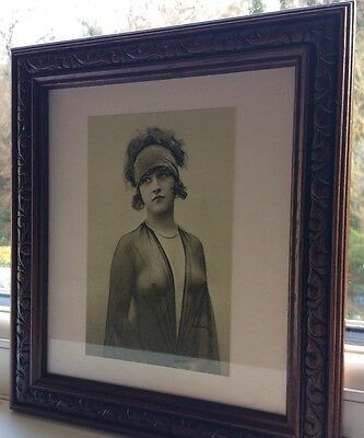 2 X Pictures In Frames Vintage of semi-nude 1920´s glamour girl/erotic /risque