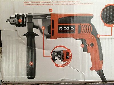 "Ridgid Heavy Duty 1/2"" VSR Drill R71111 S30 with Soft Case"