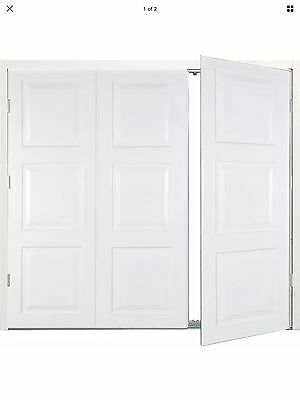 White Steel Side Hinged Garage Door ( with frame ) Brand new