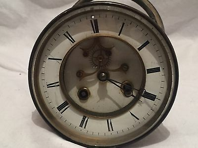 Antique Clock Face And Medaille De Bronze Workings Spares Repair Damaged