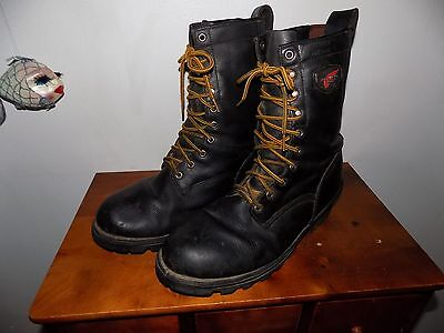 Red Wing Waterproof Logger Packer Hunting Soft Toe Riding Boots Mens 12 d (read)