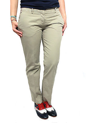 ASPESI women's trousers mod H101 beige 100% cotone MADE IN ITALY