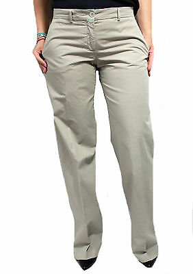 ASPESI women's trousers mod H111 beige 100% cotton cm base. 27