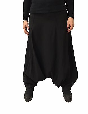 TADASHI skirt trousers women black fabric technical MADE IN ITALY