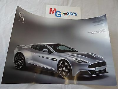 Aston Martin Vanquish Centenary Edition Glossy Double Sided Poster 2013