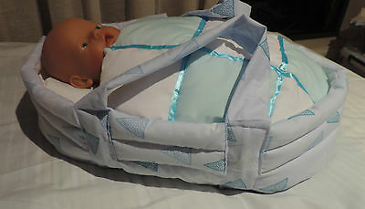 Handmade Doll Carrier Cradle Bed - fit Reborn Baby Born Cabbage Patch doll etc