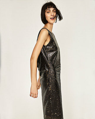 6488d069ae8 NEW SOLD OUT Zara Tube Dress with Sequins XS -  44.99