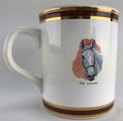 Race Horse Coffee Cup Pointers of London and Edinburgh Hand Crafted Vintage