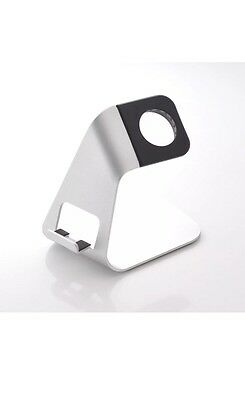 Aluminum Metal 2 in 1 Charging Dock for Apple Watch iWatch + iPhone Stand
